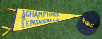 Vintage 1971 East Pasadena Little League Baseball Pennant, Cap & Pins, Champions