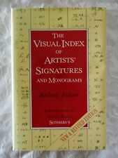 The Visual Index of Artists' Signatures and Monograms by Radway Jackson | HC/DJ