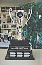 3 TIER LARGE METAL CUP FANTASY BASEBALL PERPETUAL AWARD 38 YEARS MDAK113A