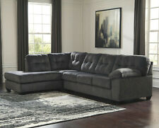Beautiful Sectional Sofa in Granite Gray Fabric - FREE SHIPPING