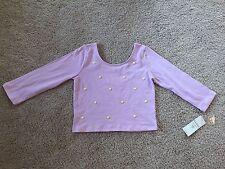 New Guess Girls Long Sleeve Tee Shirt Top Lilac. Size XL ( 16 )