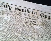 Very Rare CONFEDERATE Columbia South Carolina SAVANNAH 1864 Civil War Newspaper