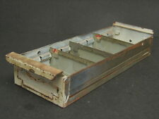 Vintage Industrial Painted Metal Part Bin Safe Drawer Storage Divided Tray