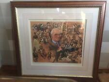 PETER CURLING SIGNED AND FRAMED PRINT PETER O'SULLEVAN AND FRENDS
