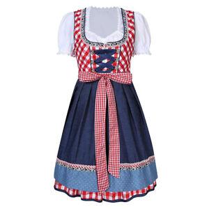 Anladia Oktoberfest Trachtenkleid Tracht Bluse Schürze Gr. 36- Gros.40