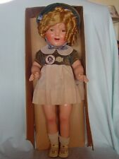 IDEAL COMPOSITION SHIRLEY TEMPLE DOLL IN RARE DRESS/BOLERO COSTUME WITH ORIG BOX