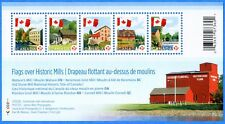 2010 Canada #2350 Flags Over Historic Mills Souvenir Stamp Sheet Mint-NH