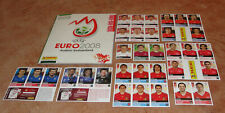 "Album Panini ""Euro 2008"" version suisse + extra stickers complet"