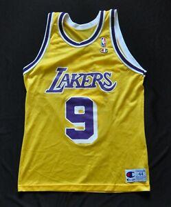 NICK VAN EXEL LOS ANGELES LA LAKERS YELLOW Champion Jersey 44 Large MEN