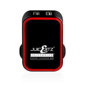 JuicEBitz® 2020 Model 5V 20W USB Mains Wall Charger 2 Port Twin Adapter 3 Pin UK