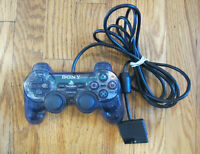 OEM DualShock 2 Controller Smoke Gray Grey Playstation 2 PS2 SCPH-10010 - Tested