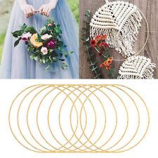 Christmas Iron Hoop Metal Ring Flower Wreath Garland Wedding Hanging Home Decor