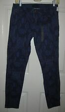 Forever 21 Skinny ankle  jeans 28X29  jrs blue aztec print blue NEW