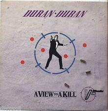"""DURAN DURAN - A view to a kill - VINYL 7"""" 45 LP ITALY 1985 NEAR MINT COVER VG+"""
