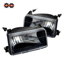 92-96 Ford Bronco F150 F250 F350 Black Housing Headlights Euro Clear Lens