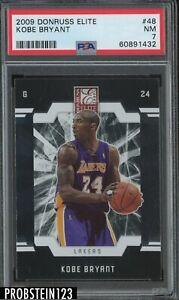 2009 Donruss Elite #48 Kobe Bryant Los Angeles Lakers HOF PSA 7 NM