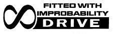 Hhgttg Hitchhikers Guide improbability Drive Vinyle car Décalque Sticker 20 cm x 5 cm