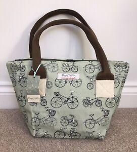 Poppy Treffry Bike Print Long Rock Tote Made In England.