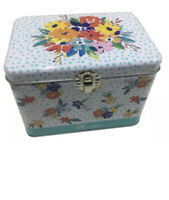 The Pioneer Woman Birthday Floral Tin Recipe Box New