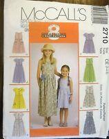 Burda sewing pattern no.2710 Little girls dress  size 3,4,5