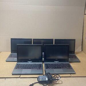 """Lot Of (5) Fujitsu LifeBook T725 i5-5200U 2.2GHz 128GB SSD 4GB RAM 12.5"""" No OS"""