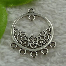 free ship 52 pcs tibet silver earring connector 36x30mm #4014