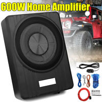 10'' 600W Ultra-Thin Active Car Under-Seat Subwoofer Sub Box Speaker Amplifer