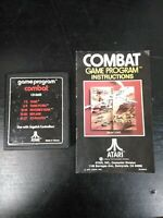 Combat Atari 2600 Game Cartridge And Manual
