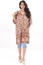 Indian Cotton Women's Top Girl's Ultra Tunic plus Size Animal Print S-7XL Kurta