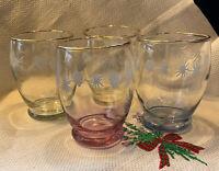 Lovely Vintage 40s Harlequin Coloured Rocks Water Glasses Set Of 4