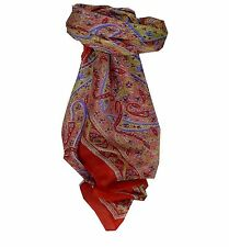 Mulberry Silk Traditional Square Scarf Sami Flame by Pashmina & Silk