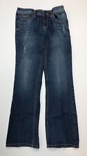 Justice - Slight Distressed Boot Cut Blue Jeans - Girl's Size 12 R