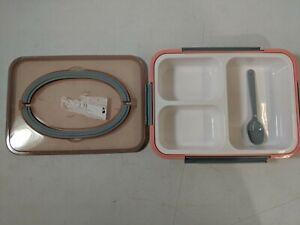 Bento Box 3 Compartments Insulated Bento Lunch Box BPA-Free Bento Box - PreOwned