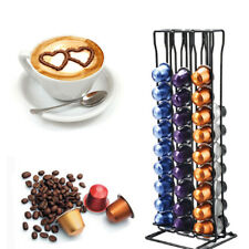 60 Coffee Capsules Pod Holder Tower Stand Dispenser Rotating Rack for Nespresso