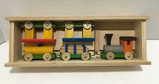 Vintage Western Germany Wooden Wood Toy Train 5 piece Set