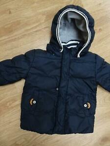 TIMBERLAND baby boys navy padded jacket coat AGE 12 - 18 MONTHS EXCELLENT