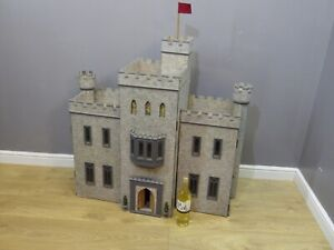 LARGE DOLLS HOUSE CASTLE / FORT WITH BASEMENT DUNGEON