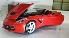 1:24 Echelle Chevrolet Corvette Stingray Convertible C7 2014 Rouge Maisto