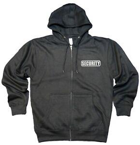 Security Premium Zip up Fleece Hoodie with Reflective Decoration