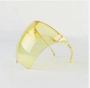 Face Shield Face Mask Transparent Glasses ASTRO Visor Anti-Fog Yellow