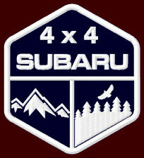 """SUBARU 4 x 4 EMBROIDERED PATCH ~3-1/2"""" x 3"""" OFF ROAD CAR DESERT FORESTER OUTBACK"""