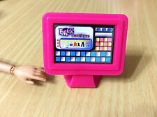 Barbie Doll Bratz Boutique Hot Pink Flat Screen Computer PC Home Furniture