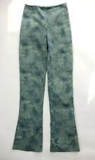 JIKI Monte Carlo Pants Size 36 EU 6 US Womens Green Graphic Print Cotton Stretch