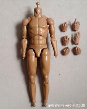 Wolf King 1/6 Scale asian Male Muscular Kung fu samurai Body fit Sasaki Kojiro