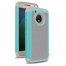 Fits Motorola Moto G5 Case Shockproof Rugged Rubber Impact Hybrid Cover - Teal