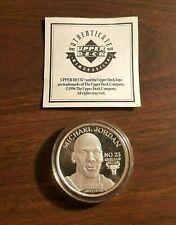 MICHAEL JORDAN CHICAGO BULLS 1 OZT .999 FINE SILVER ROUND UPPER DECK 1996 COIN