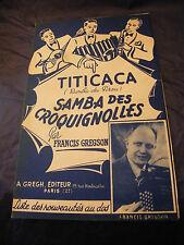 Partition Titicaca Samba des croquignolles Francis Gregson  Music Sheet