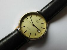 **GENTS VINTAGE ROTARY 9ct SOLID GOLD QUARTZ WATCH **