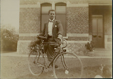 Belgique, Dinant, Cycliste, Costume d'Epoque  Vintage citrate print Tir