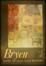 Affiche exposition Camille Briand dit Camille Bryen Musée National D'art Moderne